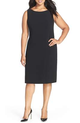Louben Sleeveless Suiting Sheath Dress