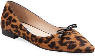 Prada Leopard Calf Hair Ballet Flats