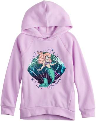 Princess Girls Disneyjumping Beans Disney's The Little Mermaid Ariel Toddler Girl Sequined Graphic Hoodie by Jumping Beans