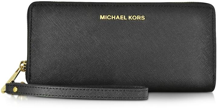 MICHAEL Michael KorsMichael Kors Jet Set Travel Large Continental Wristlet Leather Wallet