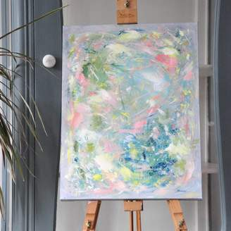 Paint-Me-Happy Art Colourful Soft Pastel Acrylic Painting Wall Art Canvas