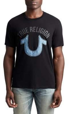 True Religion MENS DENIM APPLIQUE LOGO TEE