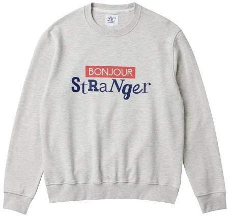 [Unisex] COLLECTION LINE Bonjour Main Sweat Shirt Oatmeal