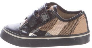 Burberry Boys' Nova Check Sneakers $95 thestylecure.com