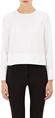 Barneys New York Women's Poplin Crop Top-WHITE $295 thestylecure.com