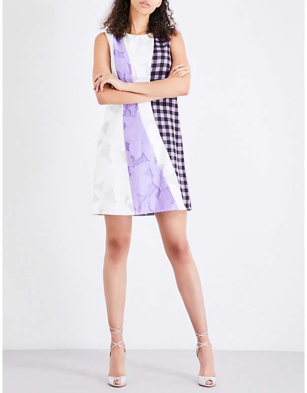 Diane von Furstenberg A-line jacquard and stretch-silk dress