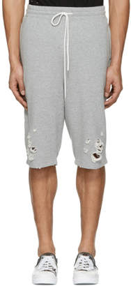 Miharayasuhiro Grey Distressed Lounge Shorts