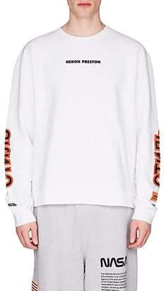 Heron Preston Men's Logo Cotton Fleece Sweatshirt