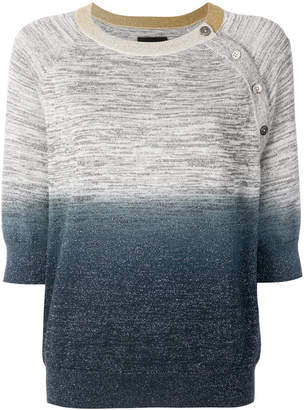 Zadig & Voltaire ombre cropped sweater