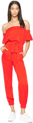Milly STRETCH SILK MAXIME JUMPSUIT