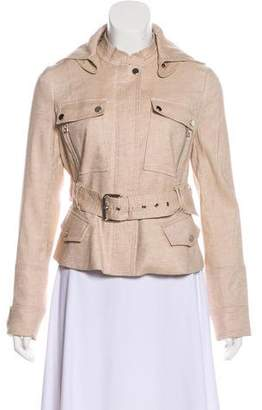 Veronica Beard Linen-Blend Long Sleeve Jacket