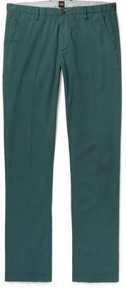 HUGO BOSS Slim-Fit Stretch-Cotton Twill Trousers