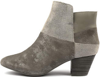 Supersoft Hennie Gunmetal Boots Womens Shoes Comfort Ankle Boots