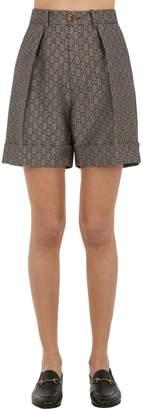 Gucci Gg Supreme Cotton & Wool Blend Shorts