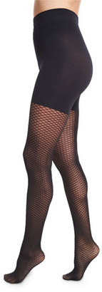 Wolford Raila Control Top Fishnet Tights, Black $70 thestylecure.com