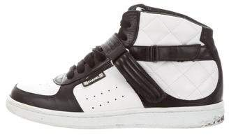 Chanel Sport Quilted High-Top Sneakers