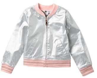 Petit Lem Metallic Rib Knit Jacket (Toddler & Little Girls)