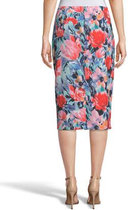 5twelve Floral-Printed Straight Scuba Skirt