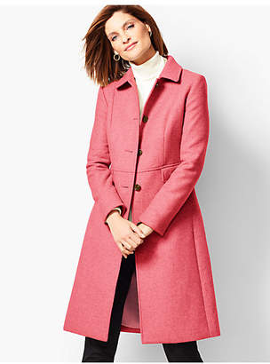Pink Wool Coat Shopstyle