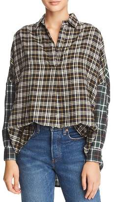 French Connection Este Check Popover Shirt