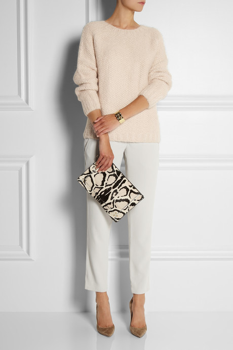 Vanessa Bruno Silk-trimmed crepe pants
