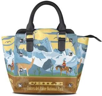 22724646ec at Amazon Canada · Sunlome Retro Chile Landmarks Cowboy Llama Print Handbags  Women s PU Leather Top-Handle Shoulder Bags