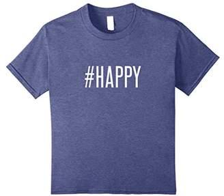 #Happy hashtag humor social media gift selfie shirt