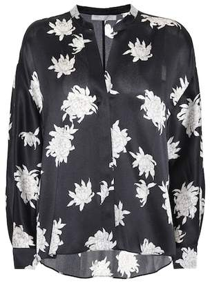 Vince Floral-printed silk blouse