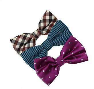 IDEA DBE0137 Series For Groomsmen Microfiber Bow ties Presents For Design 3 Pack Bow Tie Set By Dan Smith