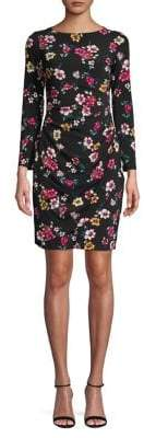 Eliza J Floral-Print Sheath Dress