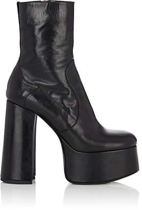 Saint Laurent Women's Billy Leather Platform Ankle Boots