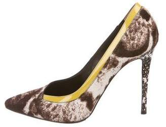 Fendi Ponyhair Pointed-Toe Pumps