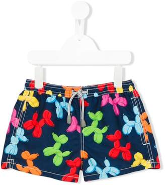 MC2 Saint Barth Kids balloon animal print swim shorts