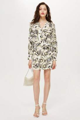 Topshop Chain Jacquard Wrap Dress