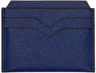 Valextra Blue 4CC Card Holder