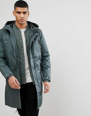 Selected 3 In 1 Parka With Drawstring Waistband