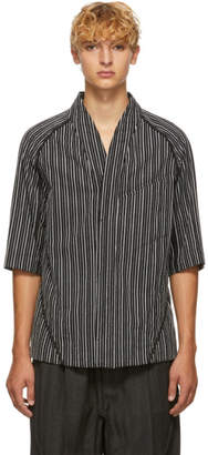 Black Limited Edition Abasi Rosborough Broken Stripe Desert Shirt