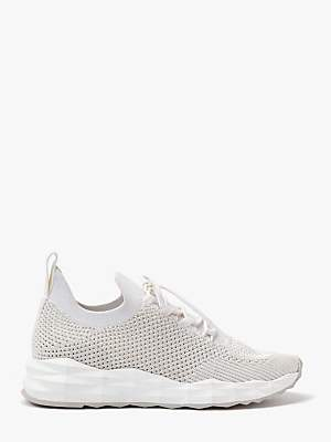 Ash Skate Knit Lace Up Trainers, White