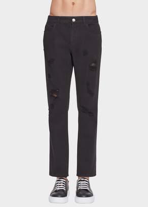 Versace Versus Distressed Jeans