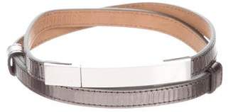 Kaufman Franco KAUFMANFRANCO Metallic Leather Waist Belt