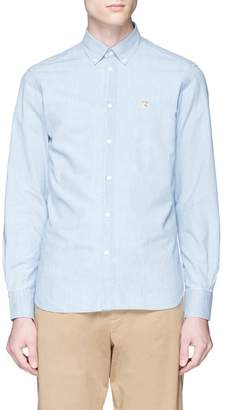MAISON KITSUNÉ Fox head embroidered chambray shirt