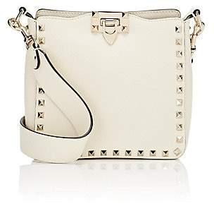 Valentino Women's Rockstud Mini Leather Hobo Bag - Cream