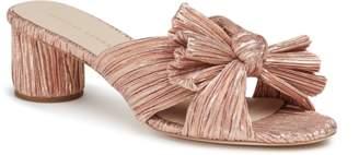 Loeffler Randall Emilia Mid Heel Pleated Knot Slide