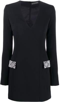 David Koma embellished pocket dress