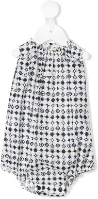 Amelia Milano compass pattern ruched body