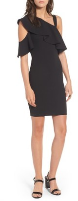 Women's Soprano Ruffle One-Shoulder Body-Con Dress $42 thestylecure.com