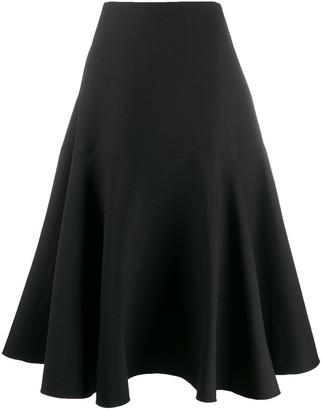 Valentino A-line paneled skirt
