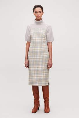 Cos CHECKED MID-LENGTH SLIP DRESS