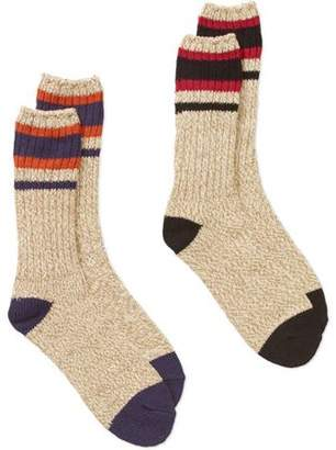 Generic Men's Marled All Weather Boot Sock, 2 Pack