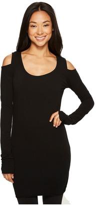 Hard Tail - Open Shoulder T-Shirt Women's Workout $70 thestylecure.com